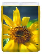 Sunflower And Bee Number Two Duvet Cover