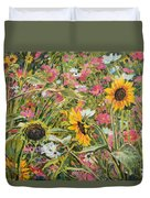 Sunflower And Cosmos Duvet Cover