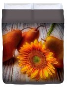 Sunflower And Pears Duvet Cover