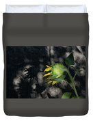 Sunflower And Shadow Duvet Cover