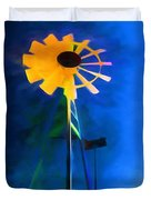 Sunflower And The Wind Spirit Duvet Cover
