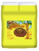 Sunflower Art Prints Orange Yellow Floral Garden Baslee Troutman Duvet Cover