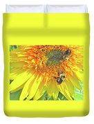 Sunflower Bees Duvet Cover