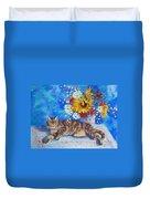 Sunflower Cat Duvet Cover