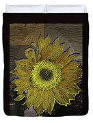 Sunflower Dreaming Duvet Cover