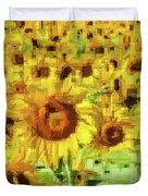 Sunflower Edges Duvet Cover