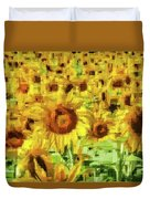 Sunflower Edges Duvet Cover