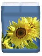 Sunflower Face Duvet Cover