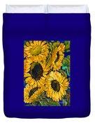 Sunflower Faces Duvet Cover