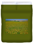 Sunflower Farm In Northwest North Dakota  Duvet Cover
