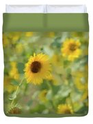 Sunflower Field Duvet Cover