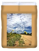 Sunflower Hitchhikers Duvet Cover