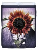 Sunflower In A Cup Duvet Cover