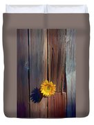 Sunflower In Barn Wood Duvet Cover
