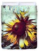 Sunflower In Deep Tones Duvet Cover