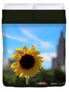 Sunflower In Providence Duvet Cover