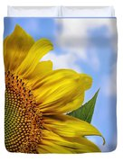 Sunflower In The Clouds Duvet Cover