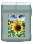 Sunflower In Town Duvet Cover