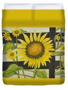Sunflower In Your Face Duvet Cover