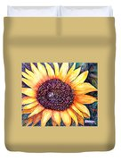 Sunflower Of Georgia Duvet Cover