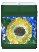 Sunflower On Blue  Duvet Cover