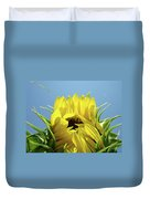 Sunflower Opening Sunny Summer Day 1 Giclee Art Prints Baslee Troutman Duvet Cover