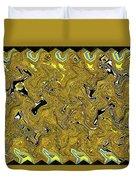 Sunflower Pie Abstract Duvet Cover