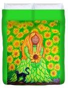Sunflower Princess Duvet Cover