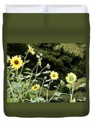 Sunflower Sea Of Happiness Duvet Cover