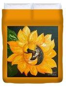 Sunflower Solo Duvet Cover