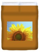 Sunflower Sunlit Sun Flowers Giclee Art Prints Baslee Troutman Duvet Cover