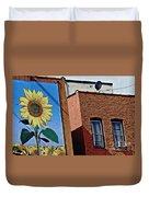 Sunflower Town Duvet Cover