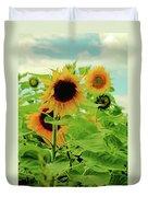Sunflower Trio Duvet Cover