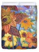 Sunflower Tropics Part 1 Duvet Cover
