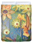 Sunflower Tropics Part 3 Duvet Cover