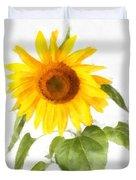 Sunflower Watercolor Duvet Cover
