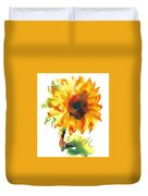 Sunflower With Blues Duvet Cover