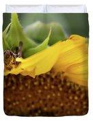 Sunflower With Grasshopper Duvet Cover