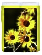 Sunflowers-4955-fractal Duvet Cover