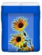 Sunflowers-5246-fractal Duvet Cover