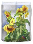 Sunflowers After The Rain Duvet Cover