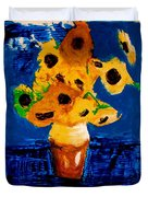 Sunflowers After Vincent Van Gogh Duvet Cover