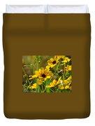 Sunflowers Along The Trail Duvet Cover