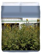 Sunflowers And Abandoned Gas Station Duvet Cover
