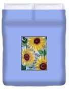 Sunflowers And Butterflies Duvet Cover