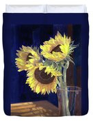 Sunflowers And Light Duvet Cover
