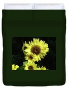 Sunflowers Art Yellow Sun Flowers Giclee Prints Baslee Troutman  Duvet Cover