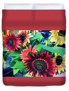 Sunflowers At A Fair Duvet Cover