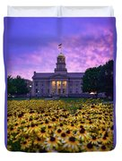 Sunflowers At The Old Capitol Duvet Cover