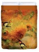 Sunflowers Duvet Cover by Carol Cavalaris